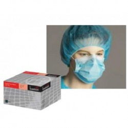 Bastion-Polypropylene Surgical Face Mask, Blue, Ties - Box/50