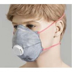 Bastion-P2 Respirator, with Valve, Active Carbon-pkt/12