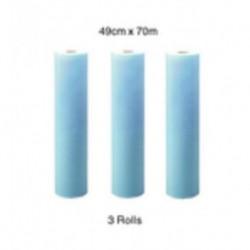 Kimberly Clark-Wtpall* X50 Wipers, 49cm x 70 meters, blue-3 rolls/pack