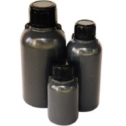 2L, Storage Bottle,  Aptaca brand, Amber polyethylene, 100mL graduations
