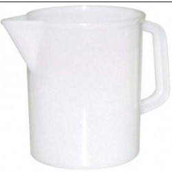 1L-Jug with handle, plastic, graduated