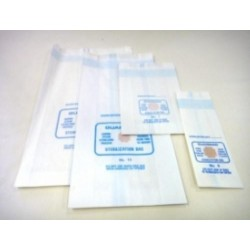 Autoclave bags-57 GMS paper satchel with indicator and labelling area, No. 18, 155 x 70 x 35 (HxWxD) mm-1000/ctn
