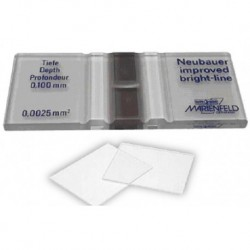 Neubauer Haemocytometer Cell Counting Chamber improved Bright-Line, comes with two cover slips-each