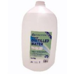 Distilled Water, UV sterile, 5L bottle