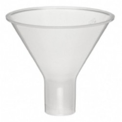 Funnel, plastic, powder type, 65mm d x 22mm stem length