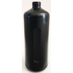 Poisons Bottle/Dangerous Goods, 1 Litre, Black with cap