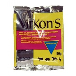 Virkon S Broad Spectrum Virucidal Disinfectant 50 gram Sachet -each