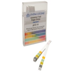 PH Universal test strips, Range: PH 1-14, (4 indicator squares)-100/pkt