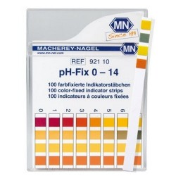 PH High Quality test strips, non-bleeding- Machery-Nagel Brand, pH-Fix 1 - 14, 1 pH increments, pkt 100