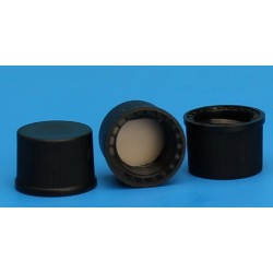 Grace/Finneran-8-425mm Solid Top, Black Polypropylene Cap, PTFE/F217 Lined-pkt/100