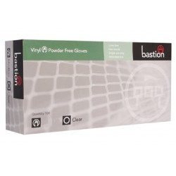 Bastion-Vinyl, Powder Free, Clear, Large - Box/100