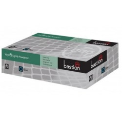 Bastion-Vinyl, Lightly Powdered, Clear, Large - Box/100