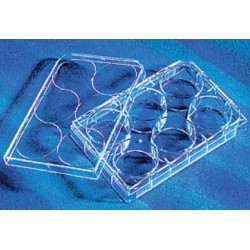 Corning 6 well Tissue culture Treated plates, with lid flat bottom, sterile, individually wrapped-pkt/50