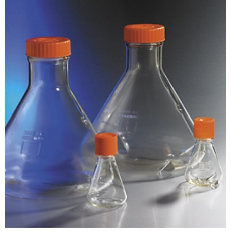 Corning 125ml Erlenmeyer Flasks W/Vented Caps, Graduated 25mls-case/50