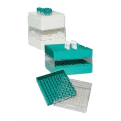 Bioline Polycarbonate -Green-25 Place Cryo boxes , suitable for freezing in liquid nitrogen-pkt/12