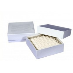 Cardboard Cryo boxes 2 Inch high with a 100 cell grid-pkt/5