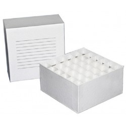 Biologix-Cardboard storage box with lid and writing space on lid, suits 15mL falcon tubes,