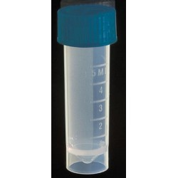 Axygen 5.0ml screw top sterile transport  tubes, flat bottom, with attached caps-pkt/500