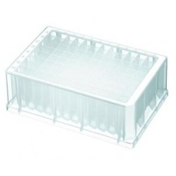 Axygen 96 well deep well plates 2.2ml volume, moulded rack with Square Holes/Sterile-pkt/25-