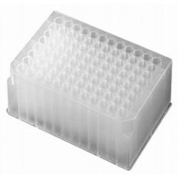 Axygen 96 well deep well plates 1.6ml volume, moulded rack with Round holes -pkt/50
