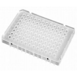 Axygen 96 well PCR plates 100Microliter Half-skirt Low Profile-pkt/100-