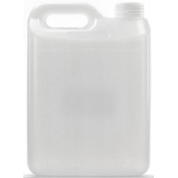 Jerrican, Natural HDPE, 2.5L, includes screw cap