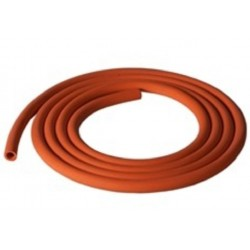 Bunsen burner red rubber tubing, 8mm OD, 3mm wall thickness-per/meter