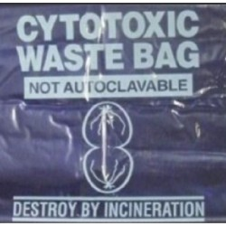 Sterihealth-Cytotoxic waste bags, 27L, purple, 500x600 mmx100 µm-250/ctn