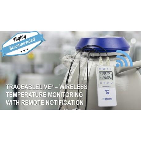 Control Company Liquid Nitrogen TraceableLIVE® Datalogger Thermometer