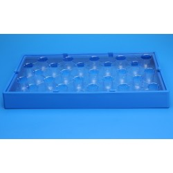 FINNERAN-Universal Vial Rack™ frame in Blue Glass Reinforced Polypropylene, pkt/5