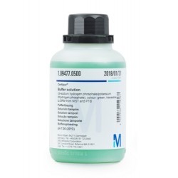 Merk Buffer Solution, pH 7, Coloured (Green), 500ml