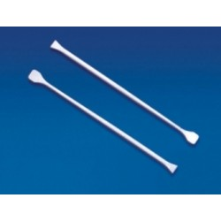 Technos stirring rod, plastic, 6mmx245mm with paddles at both ends, pkt/12