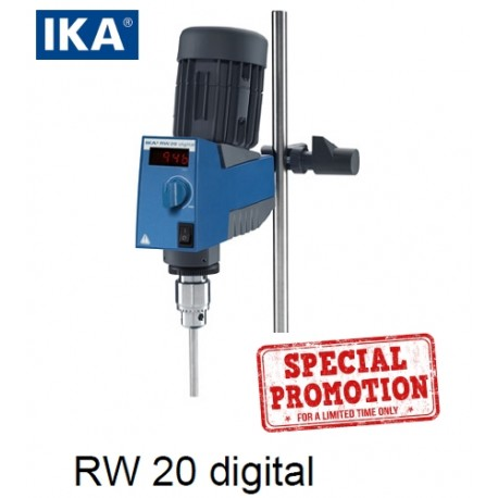 IKA RW 20 Digital Overhead Stirrer Special Package