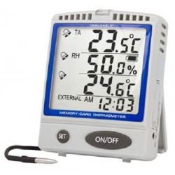 Control Company Memory-Card Refrigerator/Freezer Stainless Steel Traceable Thermometer