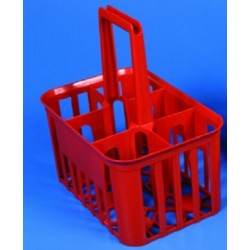 Kartell Winchester Bottle Carrier, plastic HDPE, holds 6 x 1L bottles, diam 95mm