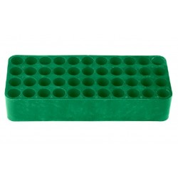 Tetra GREEN test tube racks, Dim:185x78 x31mm, suit 15-16 mm tube diameter, 44 holes with drainage holes and numbering, ctn/24
