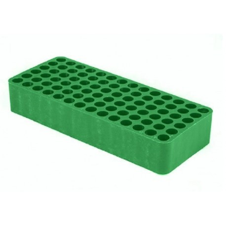 Tetra GREEN test tube racks, Dim:185x78 x31mm, suit 8-10mm tube diameter, 84 holes with drainage holes and numbering, ctn/24