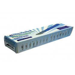 Livingstone Disposable Scalpel, Stainless Steel Blade Size 12 Attached to Handle, Sterile, 10 per Box