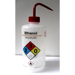 Wash Bottle-Nalgene-500mL, venting, with curved straw, Chemical Name: Ethanol, each