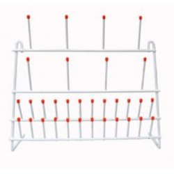 Technos Bench Glassware Draining Rack, 32 Points, 400x300mm, Nylon coated wire