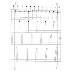 Technos Wall Mount Glassware Draining Rack,39 Points, 790x580mm, Nylon coated wire