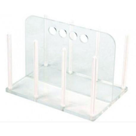 Technos Petri Dish Acrylic/Polycarbonate Rack, Holds 60x90mm diameter dishes