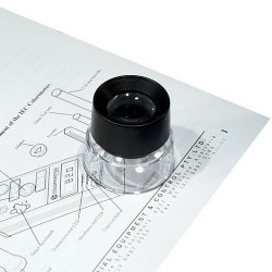 Technos Magnifier with View Loupe, 30mm d Lens, Magnification, 10x