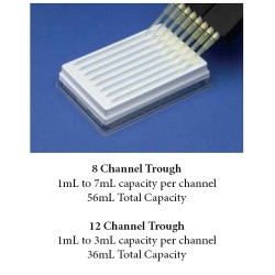 Povair 8 and 12 Channel Reservoir Trough Plate for Multi-Channel Pipettors