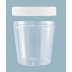 250mL-Sarstedt-V shape polystyrene sample container, flat bottom, not graduated, 75Hx78D, natural screw cap enclosed, ctn/270