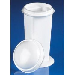 Technos Coplin Polypropylene Staining Jar with Plastic Screw Lid, each