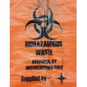Incineration Waste Bags with Label