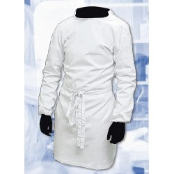 Lab Coat, Tie back Style, White Polycotton Size, XXL