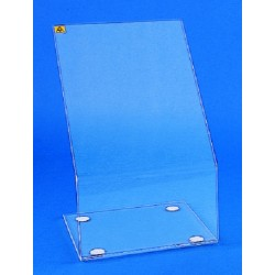 Kartell radiation safety shield, clear acrylic, portable