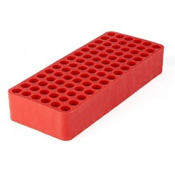 Tetra RED test tube racks, Dim:185x78 x31mm, suit 8-10mm tube diameter, 84 holes with drainage holes and numbering, ctn/24